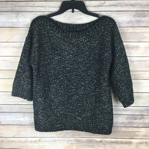 Banana Republic Black & White Marbled Sweater